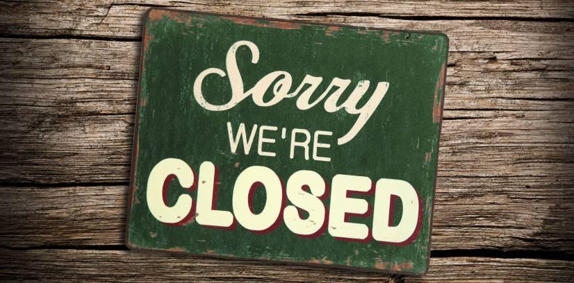 Estaremos fechados